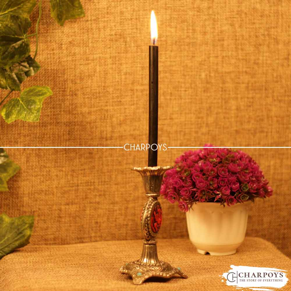 Hancrafted Stone-work Candle Holder