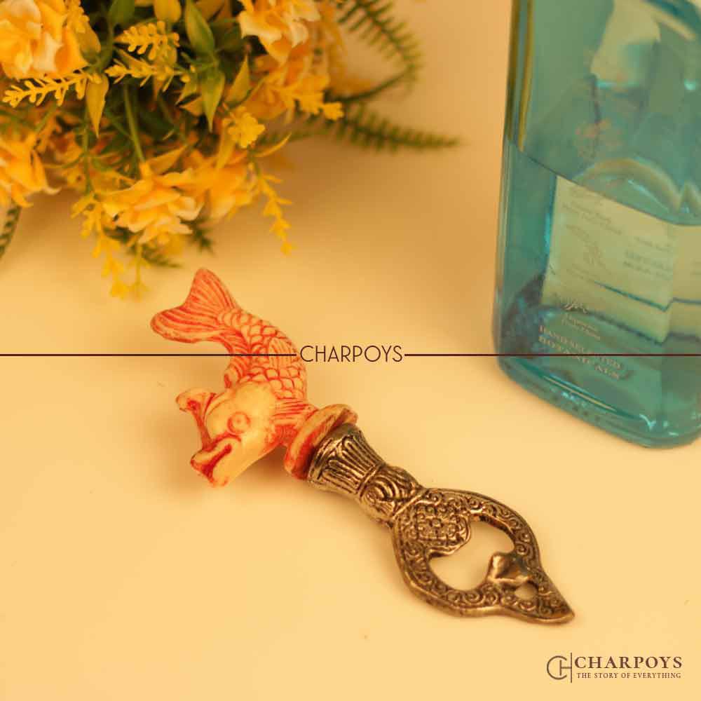 Gold Fish Design Bottle Opener