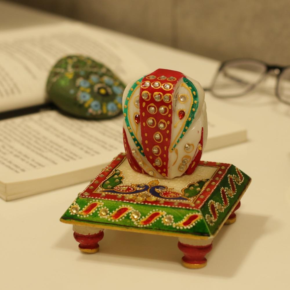 Auspicious Marble Chauki Ganesha