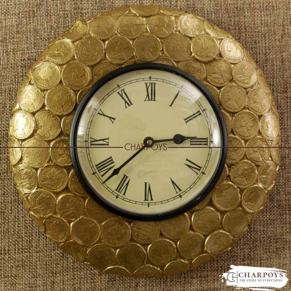VICTORIAN OLD WALL CLOCK CURRENCY DESIGN