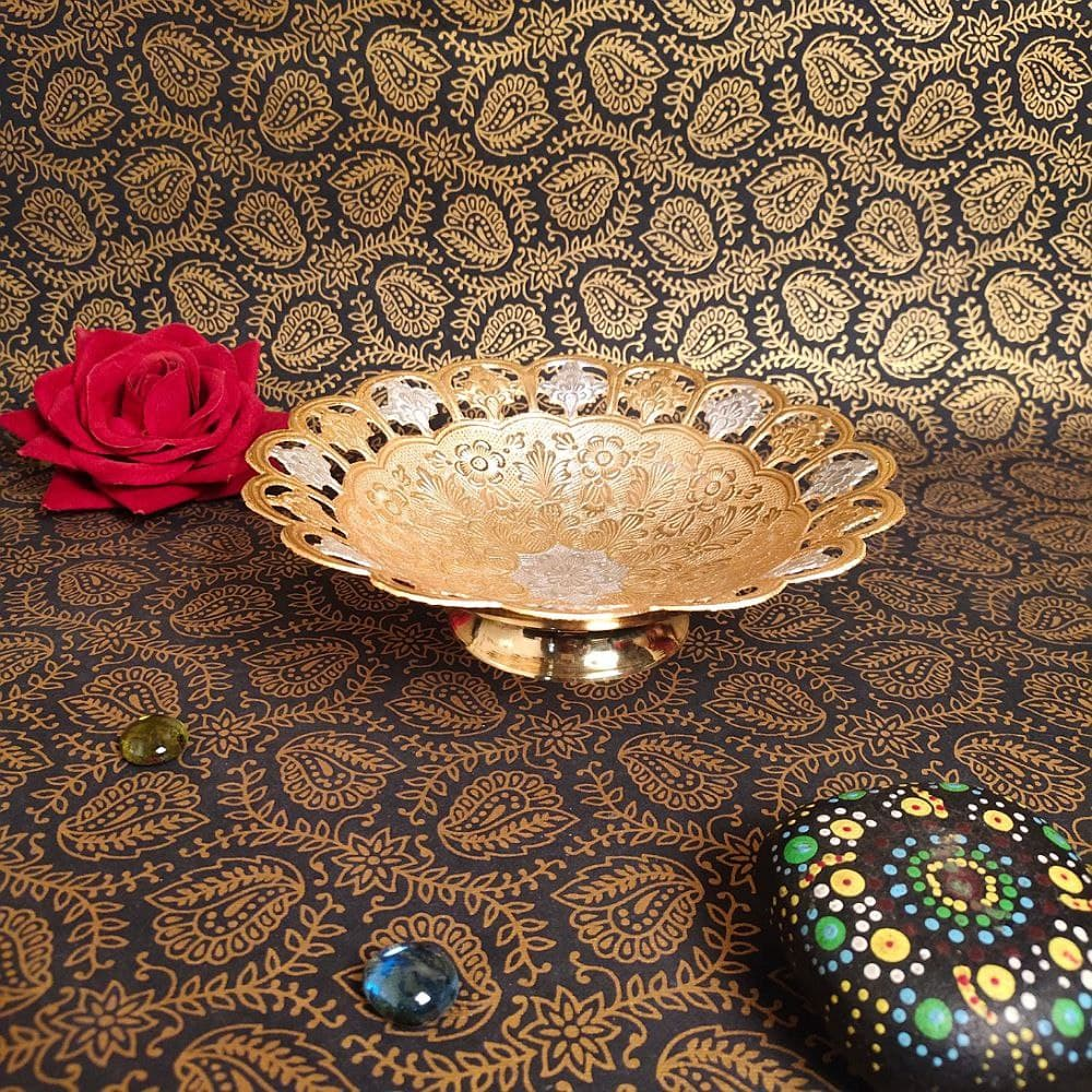 8 INCHES CUTTING GOLDEN SERVING BOWL