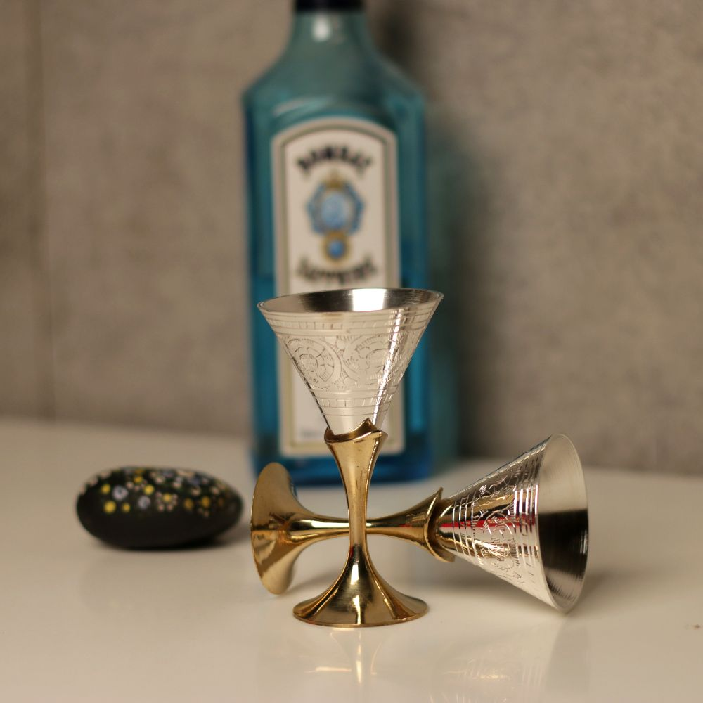 SMALL WINE GLASS S/2 hORN