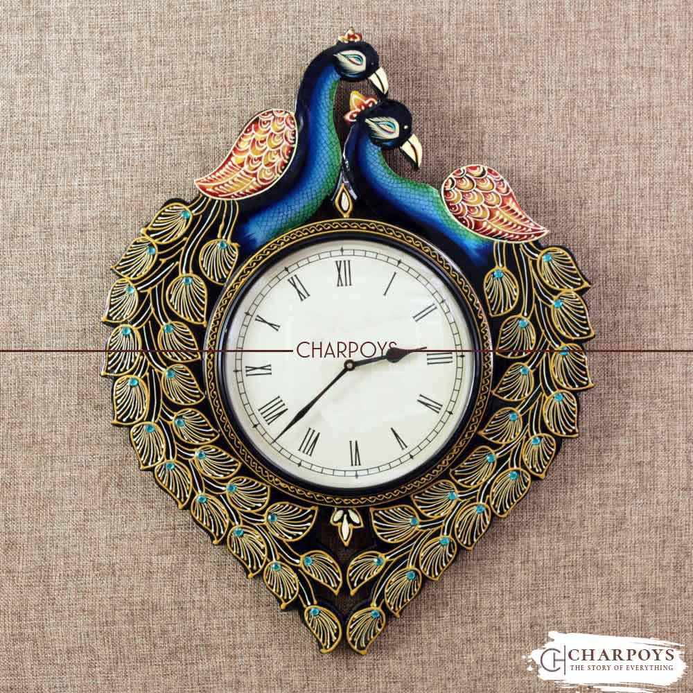 Peacock Design Wall Clock