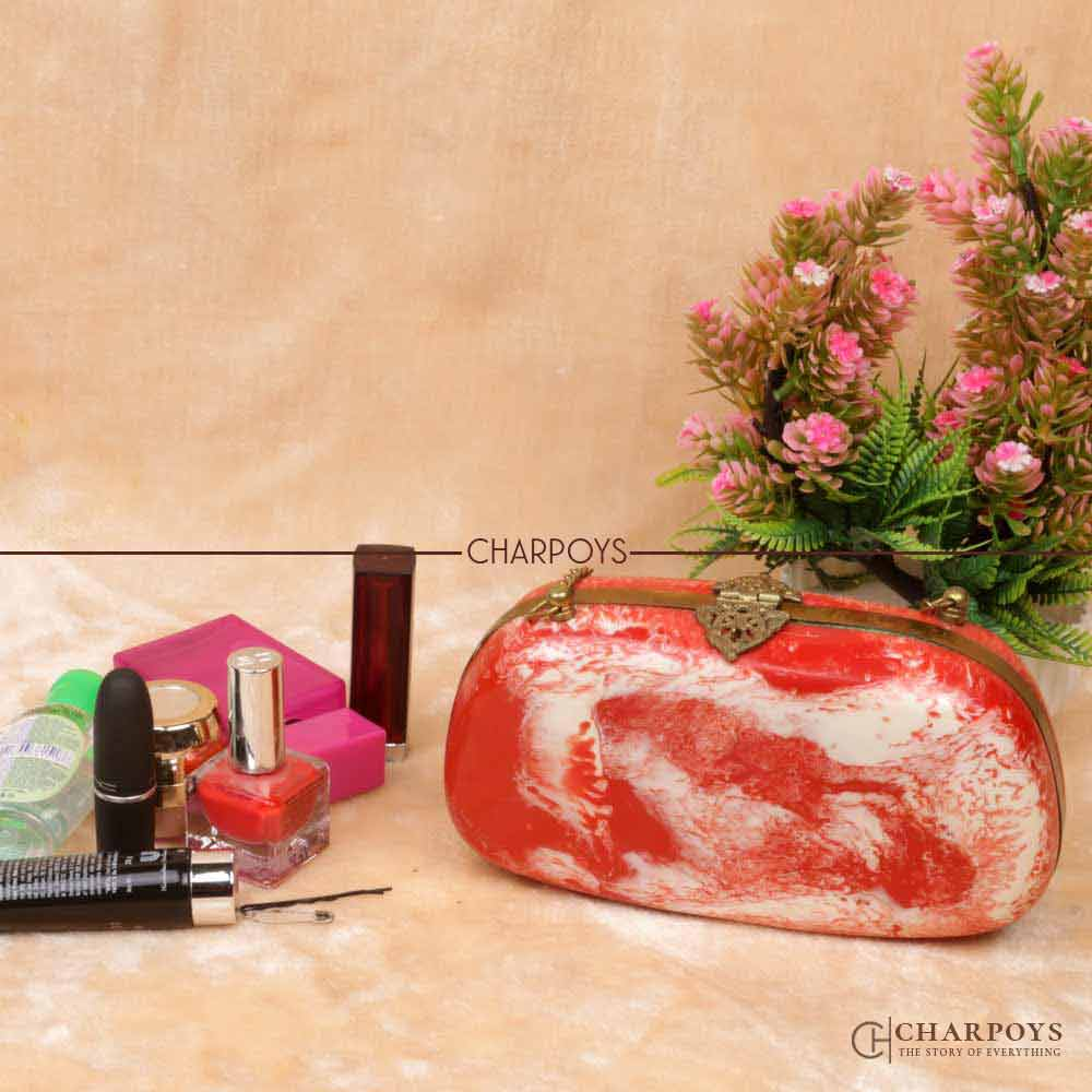 Red Color Designer Clutch