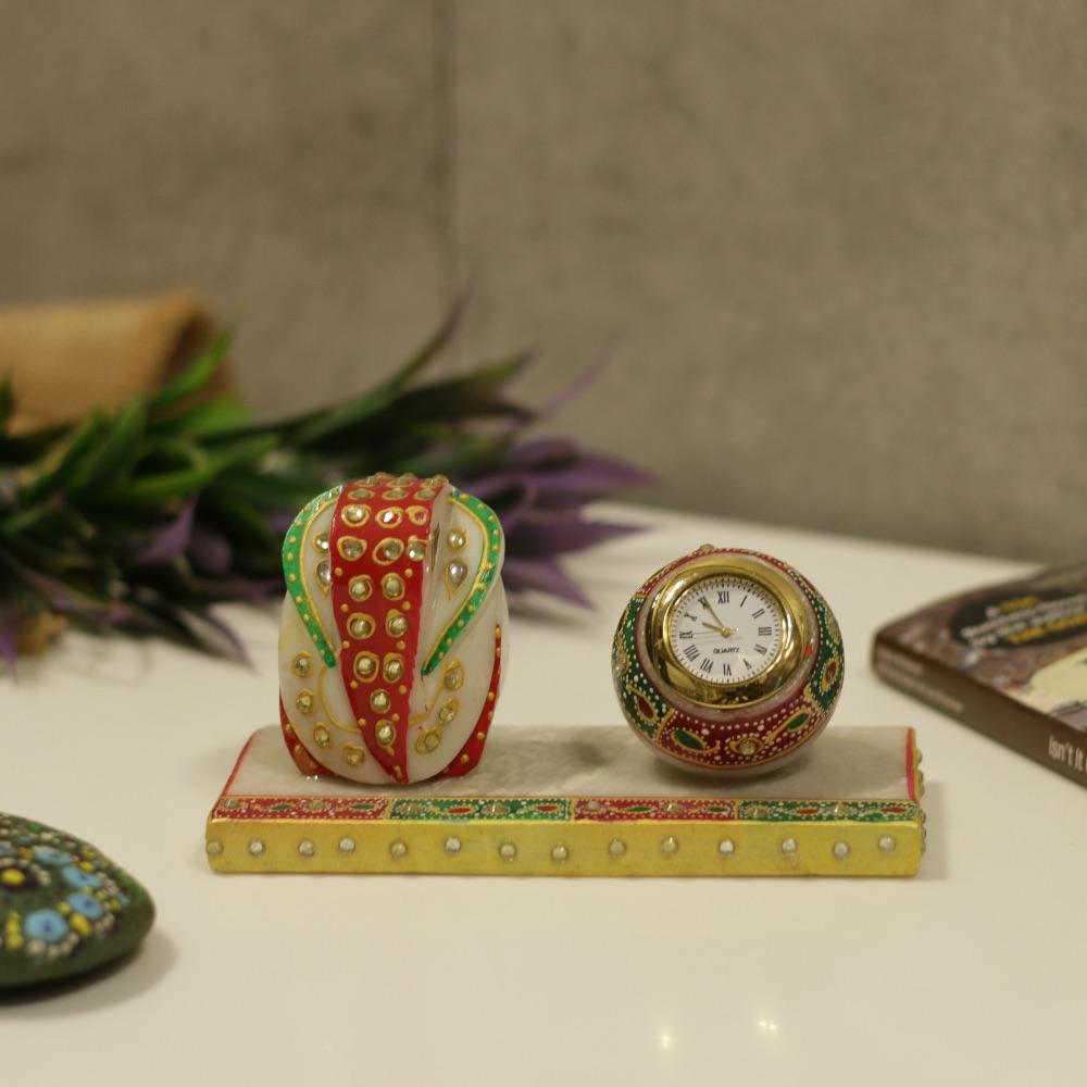 Marble Ganesha Clock