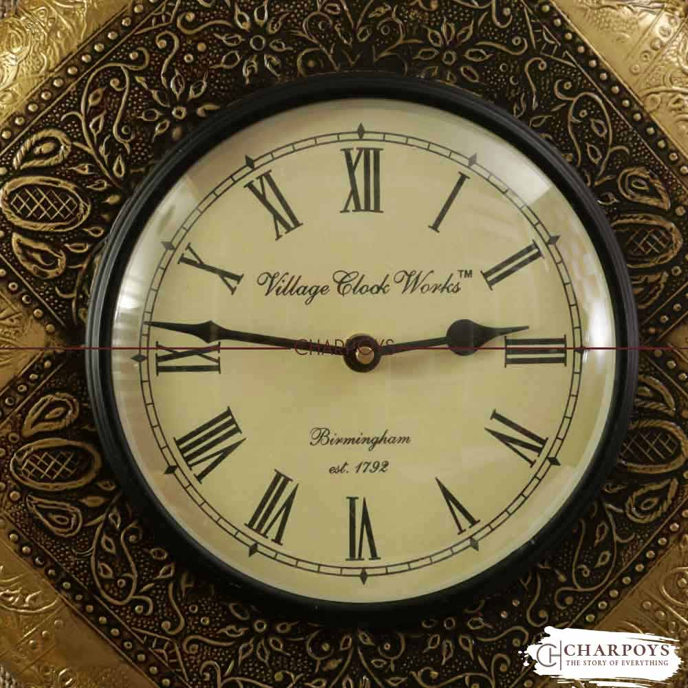 ANTIQUE WALL CLOCK GOLD COLOR HOME DECOR