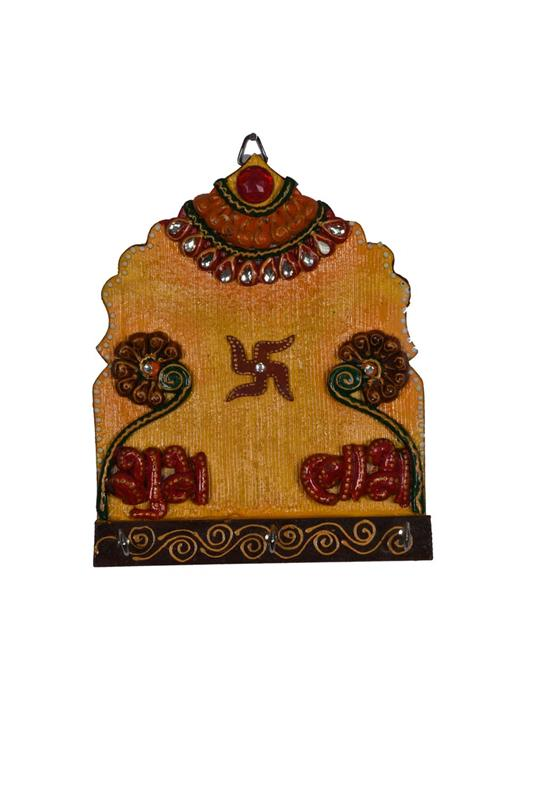 MEHRAB YELLOW SUBH LABH KEY STAND